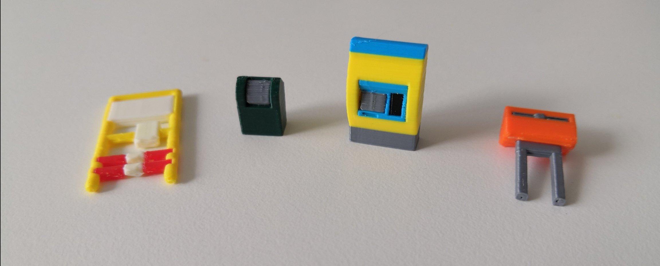 Nieuwe H0 schaal full color Nederlandse 3d print scenery
